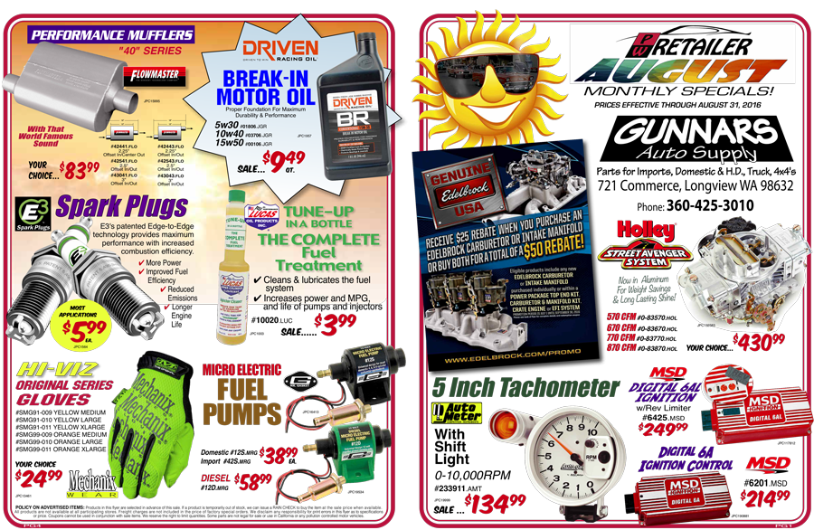 August Sales Flyer