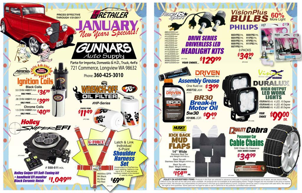 Gunnars January 2017 Sales - 1